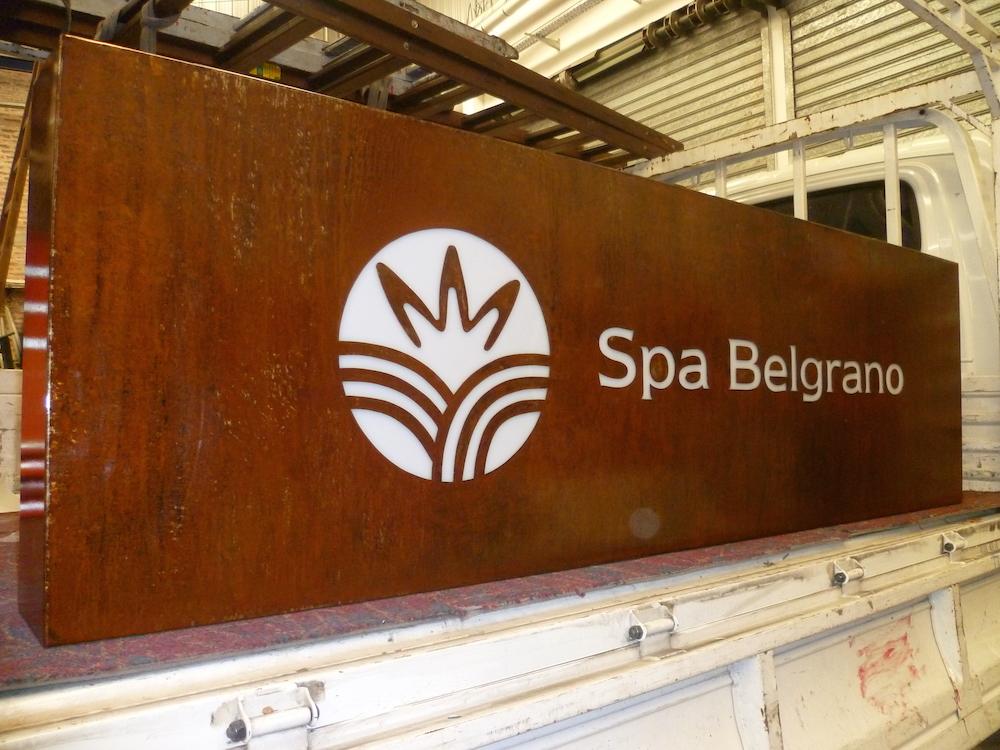 Cartelería Backlight para Spa Belgrano