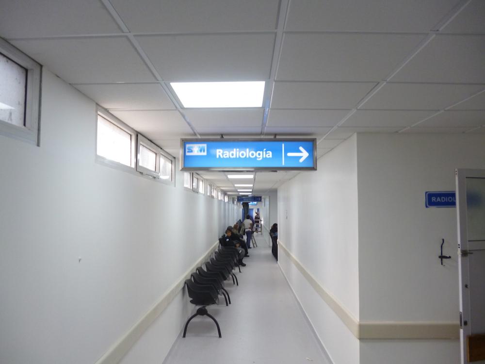 Sanatorio Mendez renovado: Señalizamos el Sector de Diagnóstico por Imágenes.
