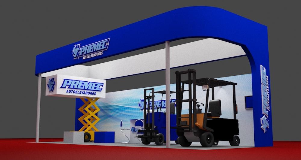 Diseño, construcción e instalación de un Mega Stand para PREMEC